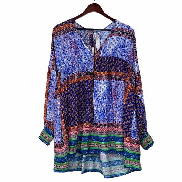 Velzera Colorful Boho Printed Tunic